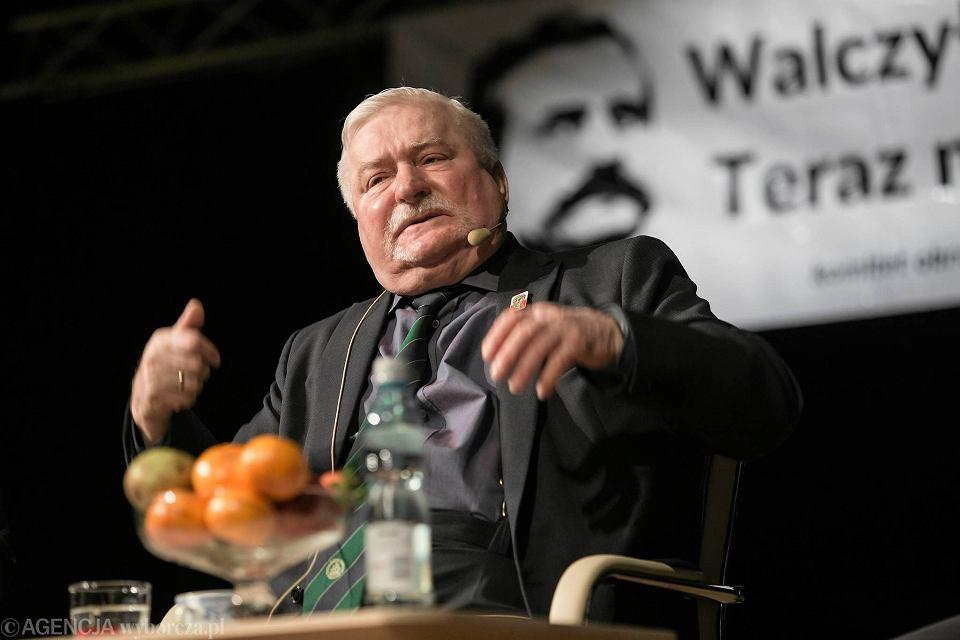 Spotkanie z Lechem Wałęsą w cyklu 'Porozmawiajmy o Polsce' i 'Wyborcza na żywo'