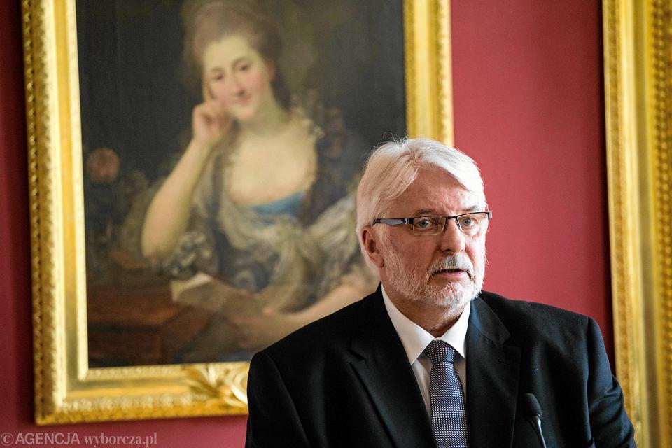 Witold Waszczykowski, były minister spraw zagranicznych.