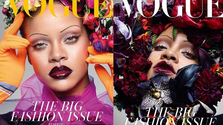 Czy Rihanna na nowej okładce Vogue przywróci trend na brwi cienkie jak kreseczki?