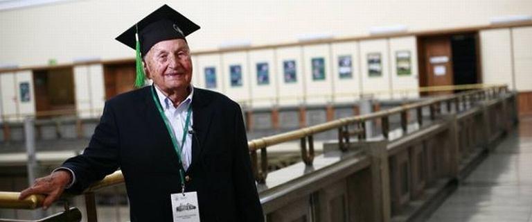 """99-letni absolwent: """"Bezp�atne studia? SGH by�a prywatn� sp�k� profesor�w"""""""