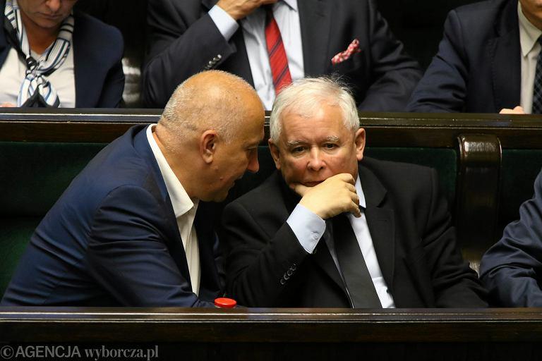 Na zdjęciu: Joachim Brudziński i Jarosław Kaczyński