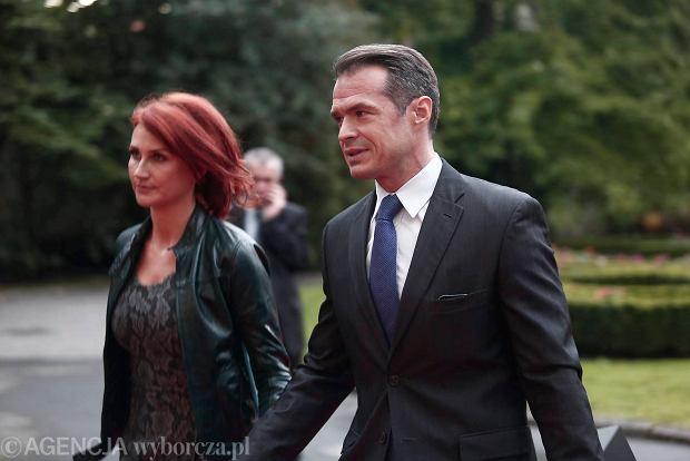 Sławomir Nowak z żoną Moniką