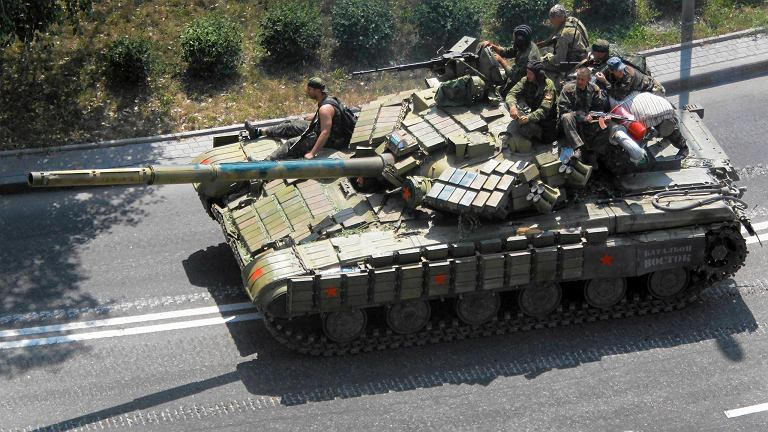 Prorosyjscy separatyści w Doniecku