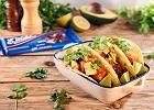 Czekoladowe tacos z szarpaną wołowiną i awokado