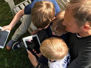 Donald Tusk z wnukami