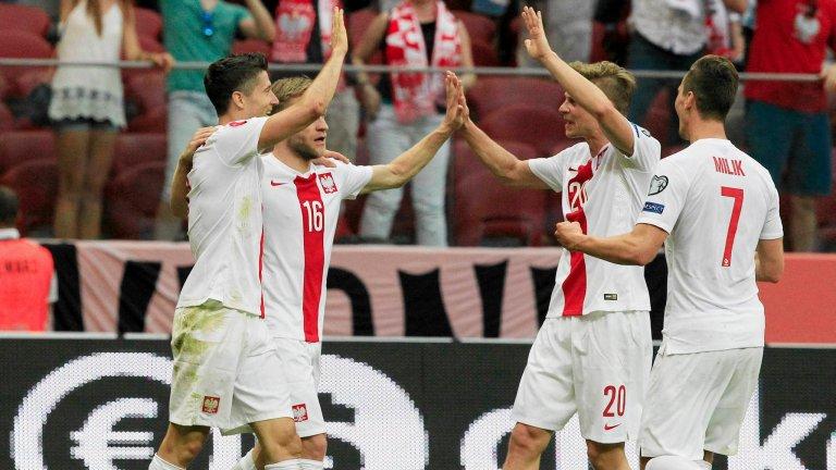 Błaszczykowski, Milik, Lewandowski, Piszczek