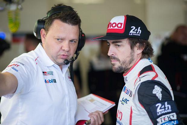 Rafał Pokora i Fernando Alonso