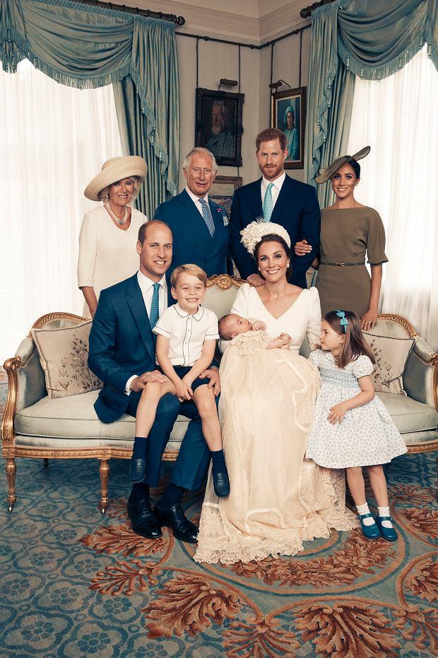 Rodzina królewska na chrzcie księcia Louisa