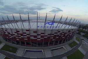 Stadion Narodowy z nowymi neonami
