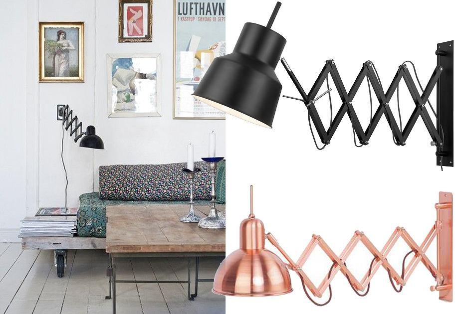 Lampy na wysięgniku harmonijkowym