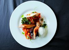 Comber z królika, marchewka, boczek, wędzona piana, piasek z selera - ugotuj