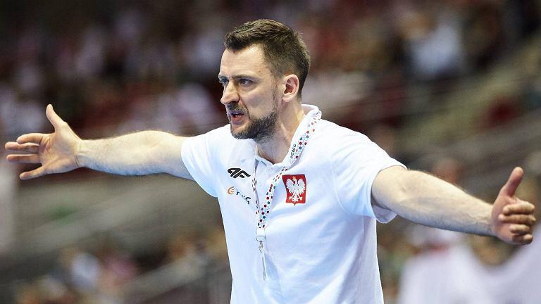 Trener reprezentacji Polski w piłce ręcznej Piotr Przybecki