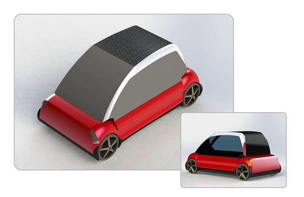 Praca zgłoszona w konkursie na karoserię polskiego samochodu elektrycznego