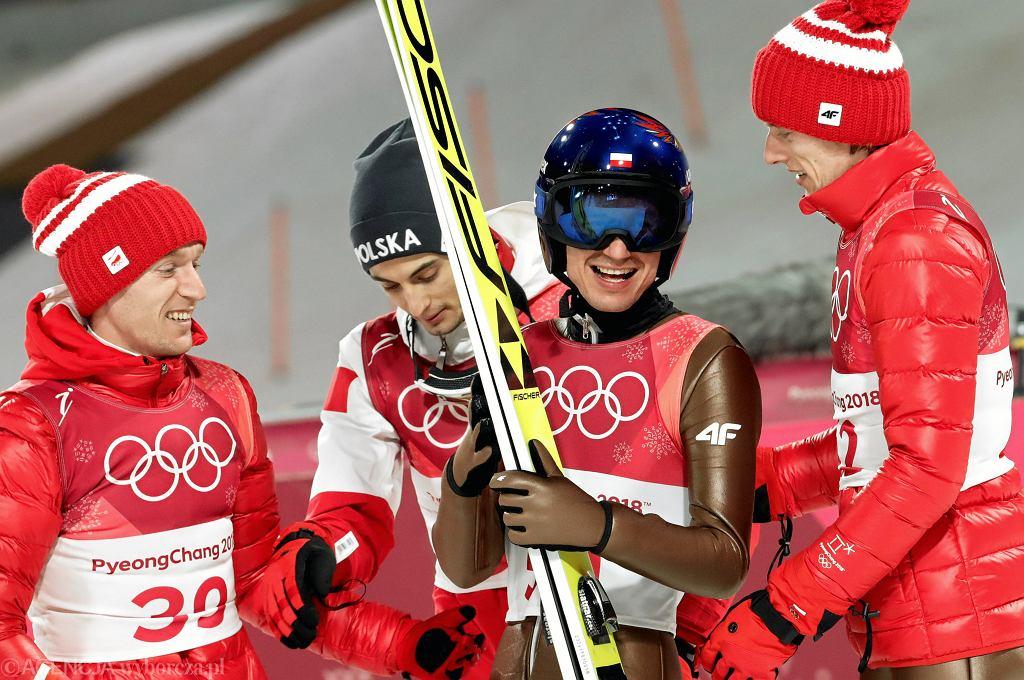 Stefan Hula, Maciej Kot, Kamil Stoch, Dawid Kubacki