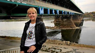 Magdalena Żelazowska przy moście Gdańskim