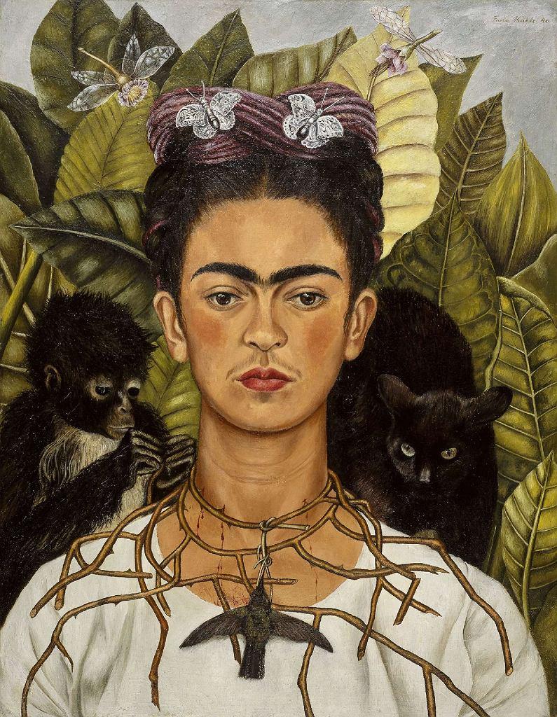 Frida Kahlo, Autoportret z naszyjnikiem z cierni i kolibrem, 1940 / libby rosof / flickr.com