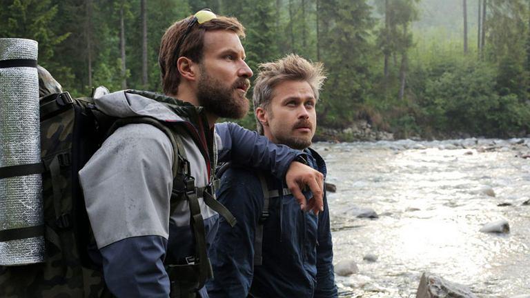 Piotr Stramowski i Maciej Zakościelny na planie filmu ''Po prostu przyjaźń'' (fot. materiały prasowe)