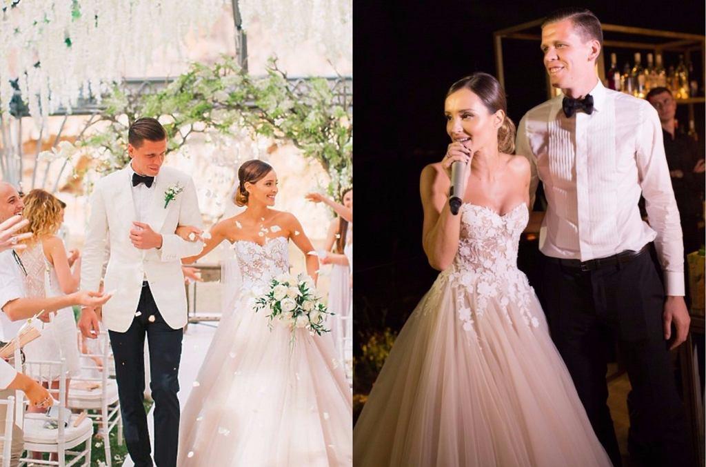 Marina Łuczenko i Wojciech Szczęsny w maju 2016 roku wzięli pełny przepychu, ale jednocześnie dyskretny ślub w Grecji.
