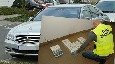 Litwin przewoził 12,5 kg czystej kokainy w  mercedesie klasy S