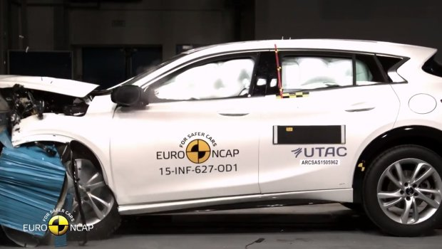 Infiniti Q30 testy Euro NCAP