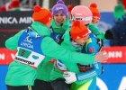 M� w lotach narciarskich. Polska dru�yna pi�ta, wygrana Norweg�w