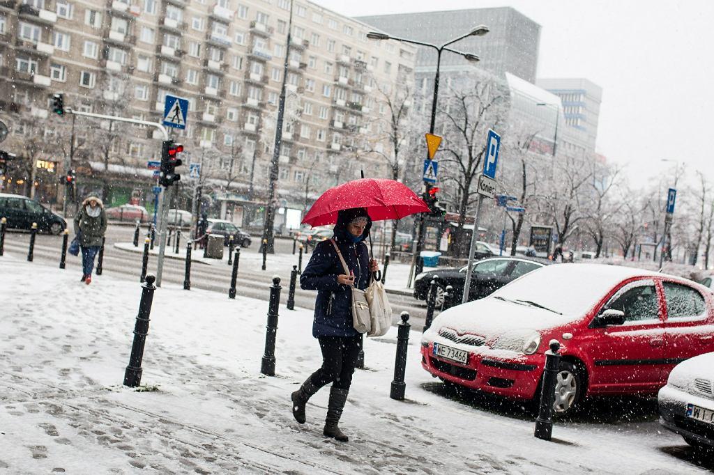 Pogoda: Śnieg w Warszawie