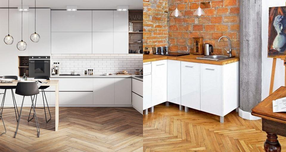 Podłoga w kuchni - drewno