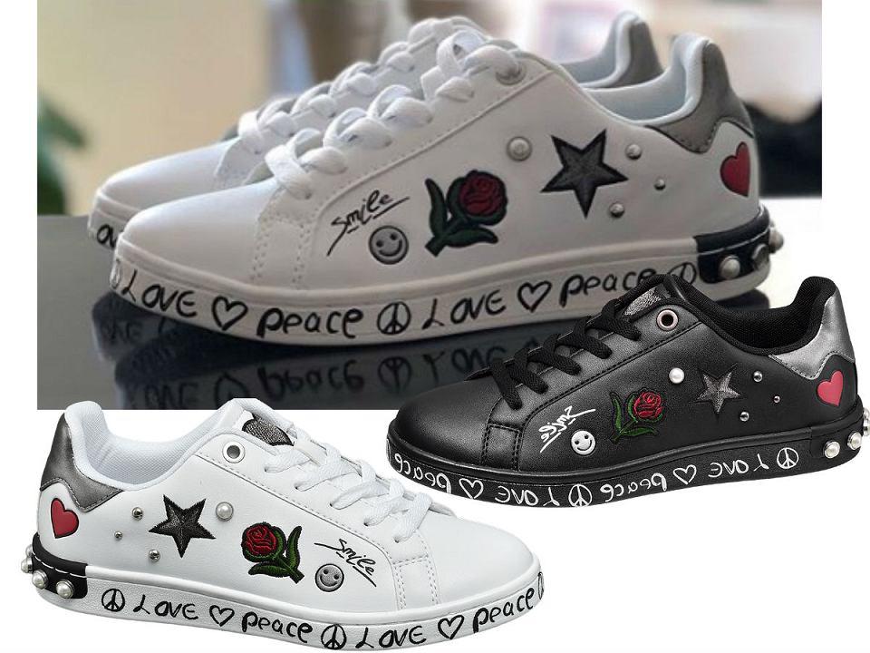 Sneakersy ze zdobieniami