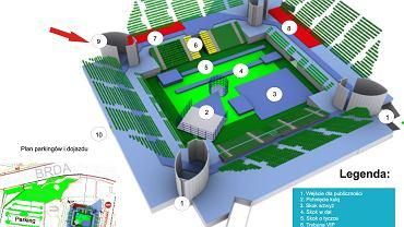 Plan hali podczas Pedros Cup