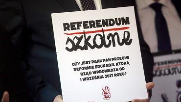 Konferencja prasowa ZNP dotycząca referendum związanego z reformą edukacji