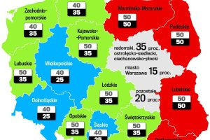 Polska jest bogatsza, wi�c Unia da mniej przedsi�biorcom. Ile? [Zobacz map�]