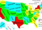 Ka�dy stan USA ma gospodark� wielko�ci ca�ego kraju. PKB Polski odpowiada Pensylwanii [MAPA]