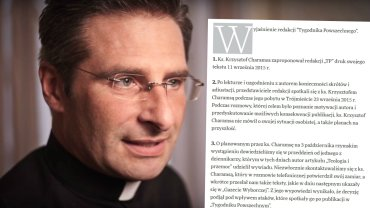 ''Tygodnik Powszechny'' odpowiada na ataki po tek�cie ks. Charamsy. ''Dopu�ci� si� manipulacji''