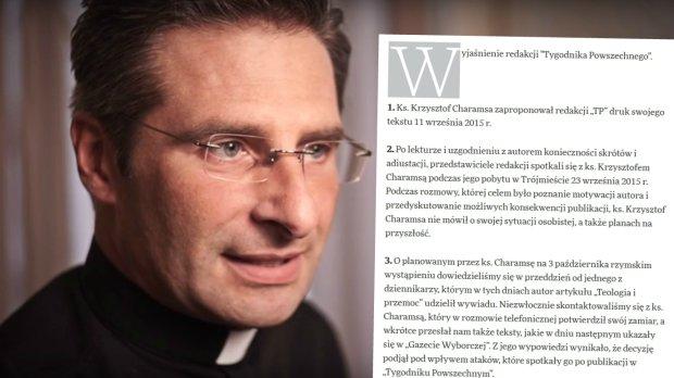 """""""Tygodnik Powszechny"""" o sprawie ks. Charamsy: Dopu�ci� si� manipulacji"""