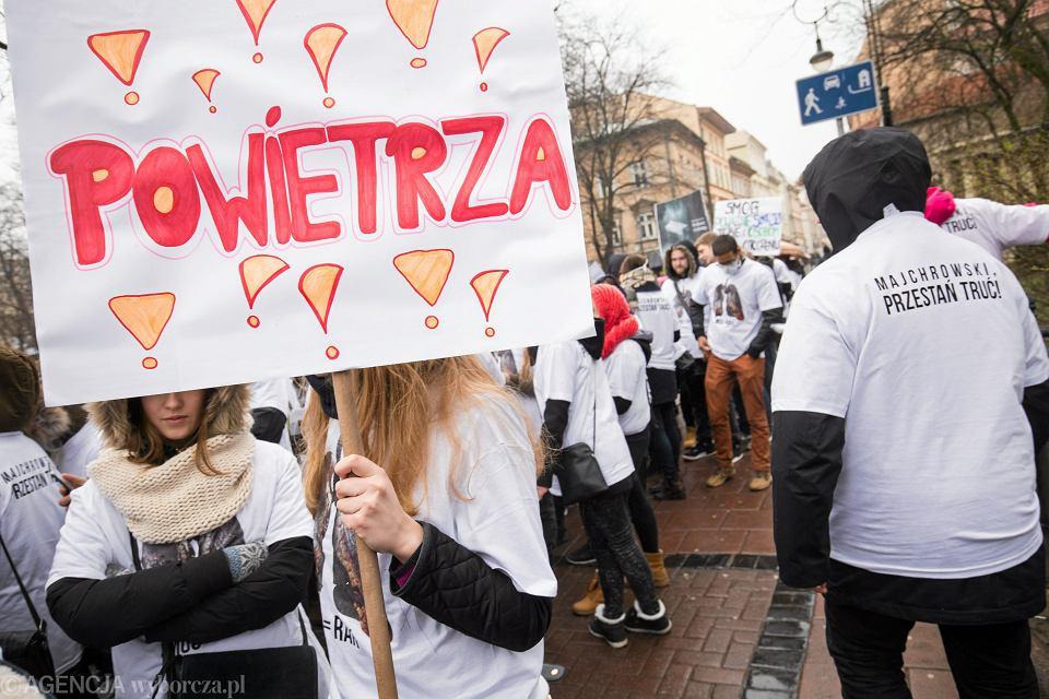 Marsz antysmogowy w Krakowie, 10 marca 2016 r.