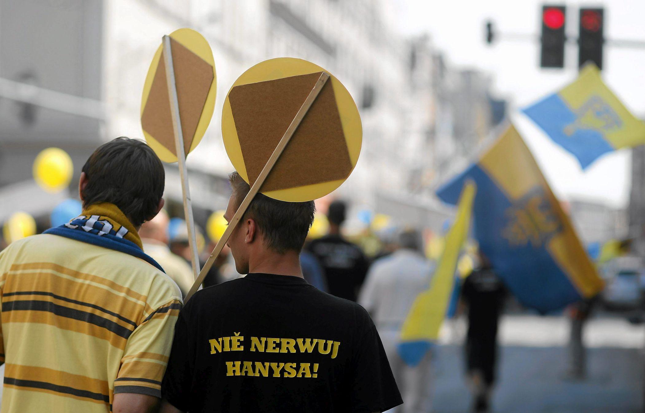 Marsz Ruchu Autonomii Śląska w Katowicach (fot. Grzegorz Celejewski / Agencja Gazeta)