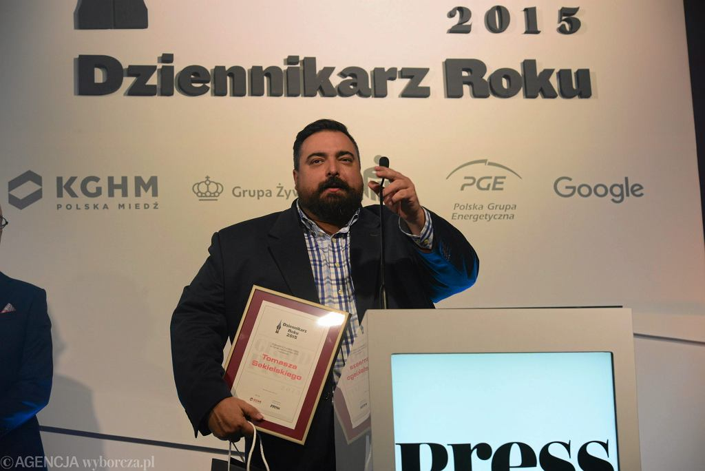 Tomasz Sekielski na gali Grand Press 2015