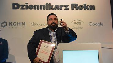 Tomasz Sekielski na gali Grand Press 2015