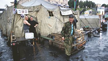 21 maja, obóz straży obywatelskiej na kijowskim placu Niepodległości