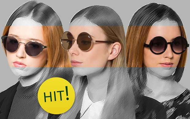 Okr�g�e okulary - stylista poleca