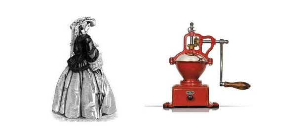 Firma Peugeot produkowała młynki do kawy i krynoliny