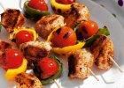 Szasz�yki z kurczaka z warzywami - Zdj�cia