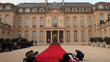 Przygotowania do ceremonii zaprzysiężenia Emmanuela Macrona na prezydenta Francji.