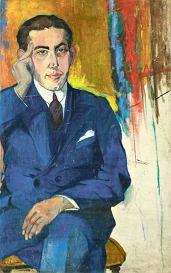 Jan Brzechwa na obrazie Celiny Sunderland z 1950 roku. Fot. Muzeum Literatury w Warszawie/EAST NEWS
