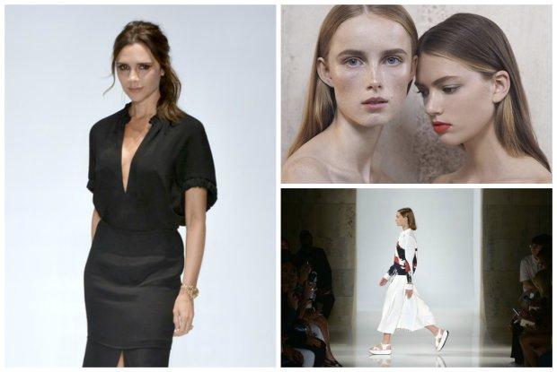 Victoria Beckham wybrała za chude modelki do pokazu? Projektantkę dotknęła fala krytyki, za to kolekcję przyjęto ciepło [GALERIA]