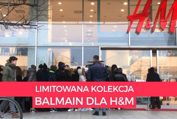 """Balmain dla H&M: szał pod sklepem na Marszałkowskiej. """"Jestem tu od 3 rano, ale niektórzy stoją od wczoraj"""" [WIDEO]"""