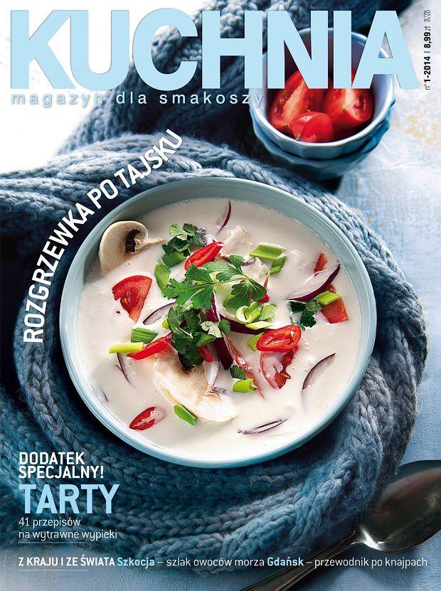 Styczniowy numer magazynu Kuchnia ju� w sprzeda�y! W �rodku dodatek specjalny: 41 przepis�w na s�one tarty