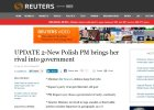 Reuters o nowym rządzie Ewy Kopacz