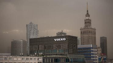21.06.2018, chmura pyłu i piasku nad Warszawą.