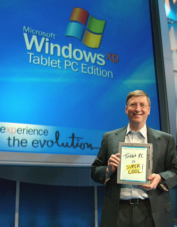 Bill Gates prezentuje Tablet PC